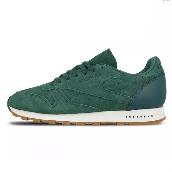 Reebok Classic Leather Jade Green Gum Sole BD6014 NWT